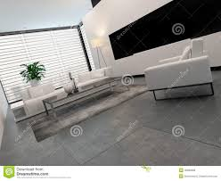 Black Living Room Modern White Grey And Black Living Room Interior Stock