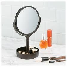 Target Bathroom Vanity by Free Standing Swivel Bathroom Vanity Mirror 1x 3x With Tray Bronze