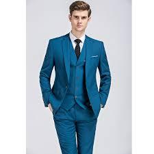 costume pour mariage blazer vest costume homme pour mariage solid blue