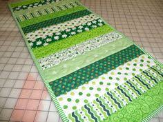 st patrick s day table runner quilt as you go table runner pdf pattern quilt inspirations