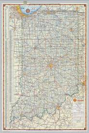 Map Indiana Shell Highway Map Of Indiana David Rumsey Historical Map Collection