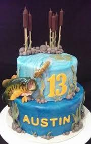 bass fish cake johns fishing themed birthday cake by rubyteacakes via flickr