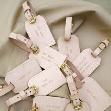 luggage tags favors destination wedding favor idea brides