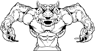 gamecock coloring pages cheetahs football mascot decal sticker en