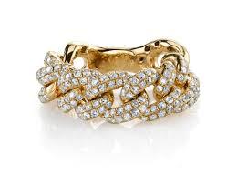 6mm diamond 6mm diamond chain link ring la jewels