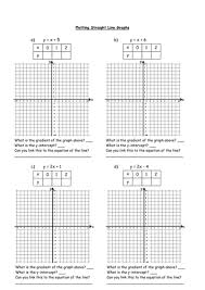 plotting straight line graphs by owen134866 teaching resources tes