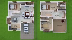 Duplex House Floor Plans House Plans Vitrines 6 Duplex Plan In 20x30 Site With Car Parking