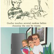 King Of The Hill Meme - hank hill reads a story about goofus a kid who can t keep his