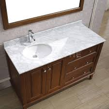 Imposing Simple 48 Inch Bathroom Vanity With Top And Sink Intended