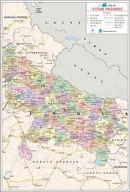 Map Of India Cities Uttar Pradesh Travel Map Uttar Pradesh State Map With Districts