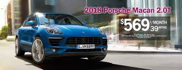 macan porsche 2018 2018 porsche macan lease for 569