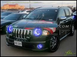 Led Lights For Jeeps 07 10 Jeep Compass Led Dual Color Halo Rings Headlights Bulbs