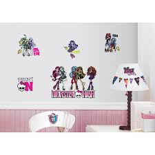 monster high peel stick wall decals walmart com