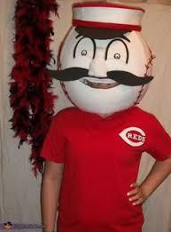 Brutus Buckeye Halloween Costume Brutus Buckeye Mascot Costume Paper Mâché Head Covered Felt