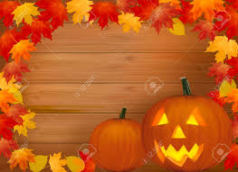 halloween background pumpkin halloween background with old paper and scary pumpkin vector