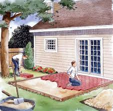 Easy Backyard Projects Project Plan 90054 Easy To Build Patio U0027s
