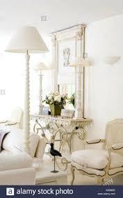 white interior console tables wonderful console table lamp mirror light oak