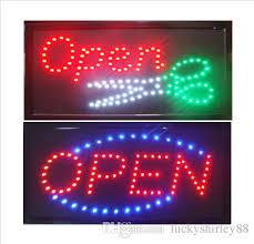 shop open sign lights bright led open scissors beauty salon hair barber shop open