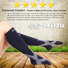 Can You Wear Compression Socks To Bed Amazon Com Blitzu Compression Socks 20 30mmhg For Men U0026 Women