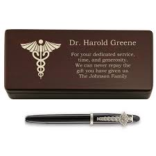 personalized pen and box for doctors school graduation