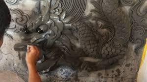 magic concrete art making beautiful dragon relief sculpture on magic concrete art making beautiful dragon relief sculpture on wall using cement