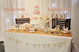 wedding cake table ideas cake table accessories our services busy bee events