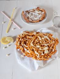 funnel cake recipe with lemon white chocolate drizzle a cookie