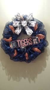 detroit tiger deco mesh wreath my wreaths pinterest deco