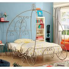 furniture of america princess dream carriage inspired champagne