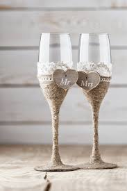 wedding glasses wedding toasting glasses rustic toasting flutes wedding