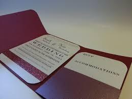 Pocket Wedding Invitations Folded Pocket Wedding Invitation Creative Ramblings
