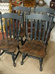 reclaimed vintage black paint early american set 4 dining kitchen reclaimed vintage black paint early american set 4 dining kitchen chair chairs sale call for