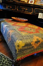 Kilim Storage Ottoman Furniture Rug Ottoman Rug Covered Ottoman Kilim Ottoman