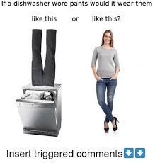 Meme Pants - if a dishwasher wore pants would it wear them like this or like this