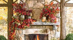 home decorating ideas for fall fall u0027s best outdoor rooms southern living