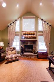 Windows Treatment Ideas For Living Room by Window Treatments For Tall Windows Family Room Transitional With