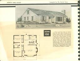 detroit times home plans 1950 vintage house plans 1950s