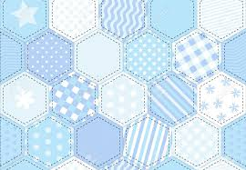 a vector illustration of a patchwork quilt background in shades