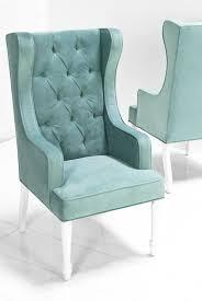 Aqua Accent Chair Tropez Dining Wing Chair In Aqua Velvet I Roomservicestore