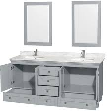accmilan 72 inch sink bathroom vanity in grey finish white