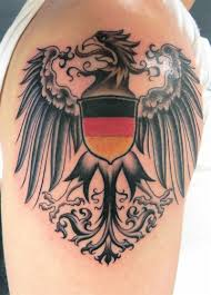 thigh tattoos for guys crest eagle on my left shoulder i love the flag being here but i
