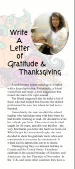 write a letter of gratitude and thanksgiving