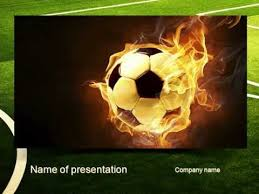 football in fire flame powerpoint template youtube