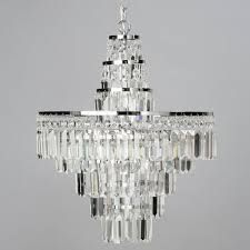 vasca crystal bar large bathroom chandelier chrome from litecraft
