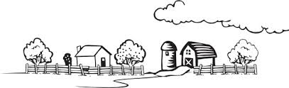 coloring book farm landscape clip art free vector open office