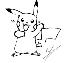 free printable pikachu coloring pages kids