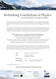 rethinking foundations of physics 2016