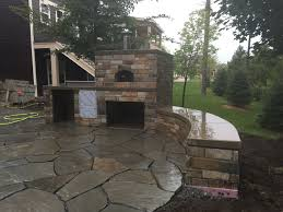 outdoor stone patio and fireplace harold j pietig u0026 sons inc