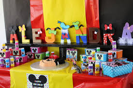 mickey mouse clubhouse birthday party cake table mickey mouse