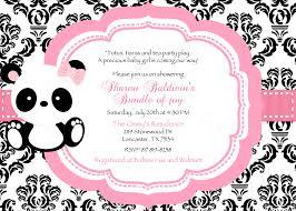 Salon Invitation Card Damask Or Polka Dot Baby Panda Baby By Thelovelymemories On Zibbet